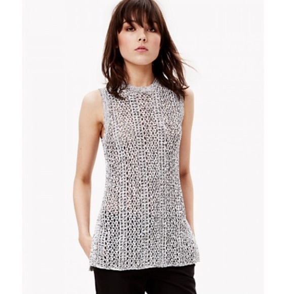 bbfa7d99325 Theory Sweaters -  385 Theory Meenaly Crocheted Sleeveless Sweater M